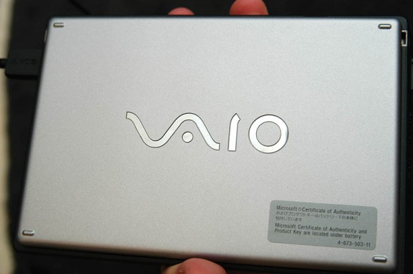 Sony Vaio U70 Laptop Back