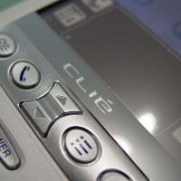 Sony CLIE 760C buttons front