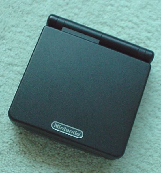 Game Boy Advance SP front