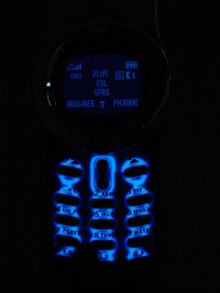 Motorola V70 Mobile Phone Lights