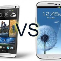 HTC One vs Samsung S4 pic
